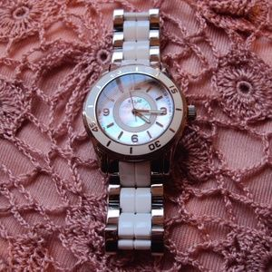 Relic Stainless Mother of Pearl Watch
